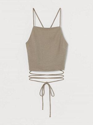 H&M Linne med bar rygg beige