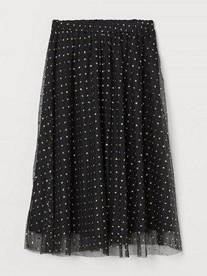 H&M Prickig kjol svart