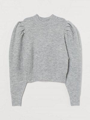 H&M Finstickad tröja grå