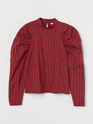 H&M Blus med puffärm röd