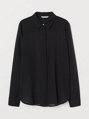 H&M Långärmad blus svart