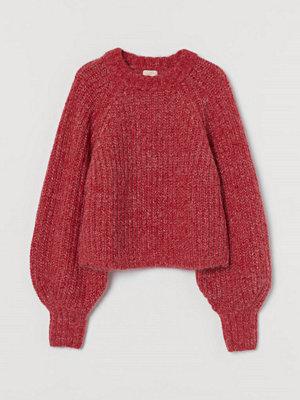 H&M Stickad tröja i alpackamix röd