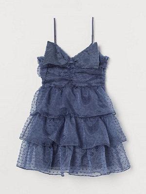 H&M Volangklänning med rosett blå