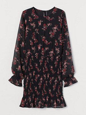 H&M Klänning med smock svart