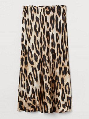 H&M Vadlång kjol beige