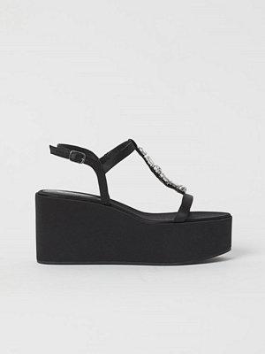 H&M Platåsandaletter med kilklack svart