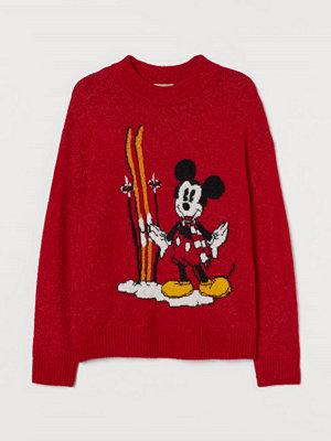 H&M H & M+ Jacquardstickad tröja röd