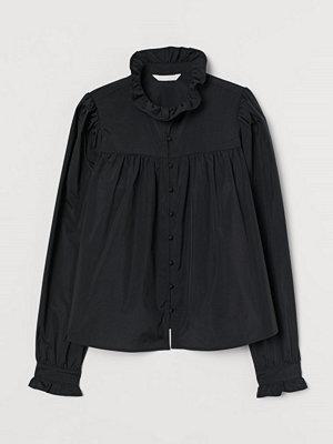 H&M Volangblus svart