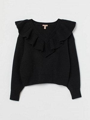 H&M H & M+ Stickad tröja svart