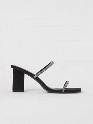 H&M Sandaletter med strass svart