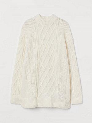 H&M Kabelstickad tröja i ullmix vit