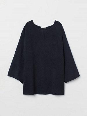 H&M Avigstickad tröja blå