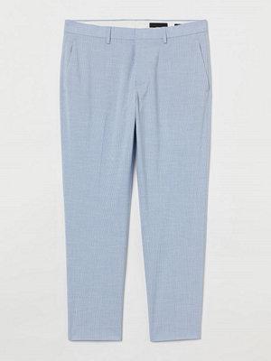 H&M Croppad kostymbyxa Slim Fit blå