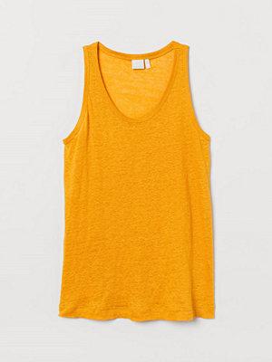 H&M Tanktop i lintrikå gul