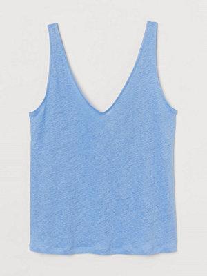 H&M Tanktop i linne blå