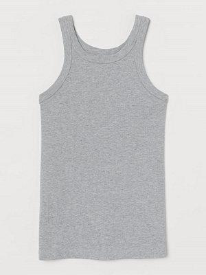 H&M Ribbad tanktop grå