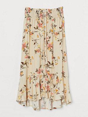 H&M Mönstrad kjol beige