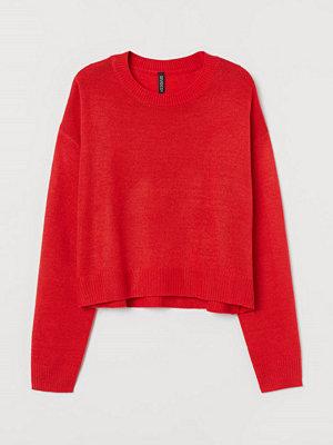 H&M Stickad tröja röd
