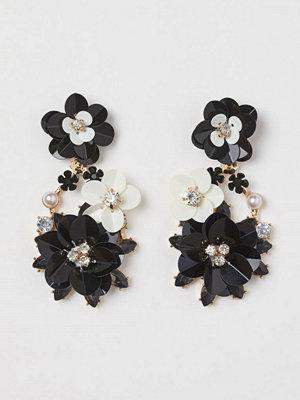 H&M Blomörhängen svart
