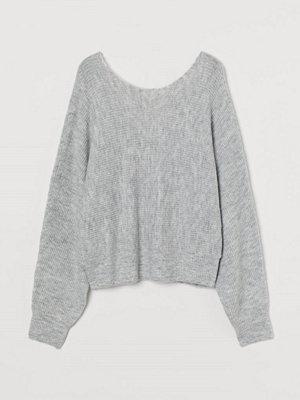 H&M Stickad tröja grå