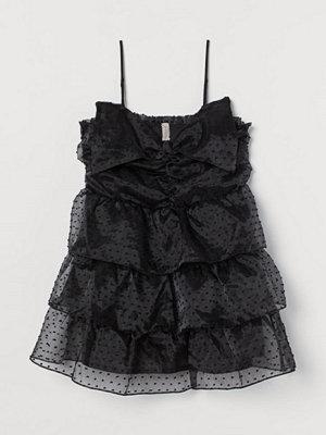H&M H & M+ Volangklänning med rosett svart