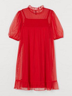 H&M H & M+ Meshklänning röd