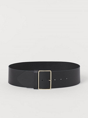 H&M Midjeskärp i läder svart