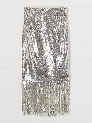 Kjolar - H&M Paljettkjol med fransar silver
