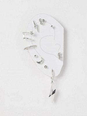 H&M Örhängen och earcuff silver