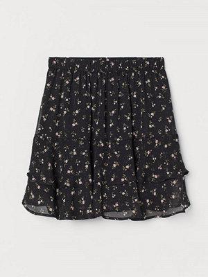 Kjolar - H&M Skir volangkjol svart