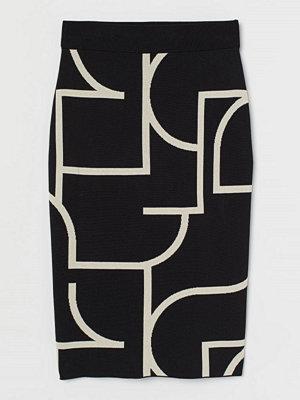 Kjolar - H&M Jacquardstickad kjol svart