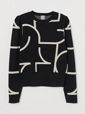 H&M Jacquardstickad tröja svart