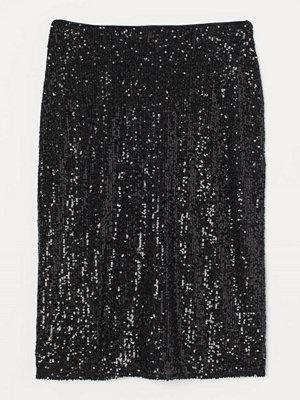 Kjolar - H&M Figurnära paljettkjol svart