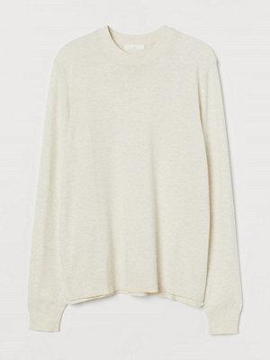 H&M Finstickad tröja vit