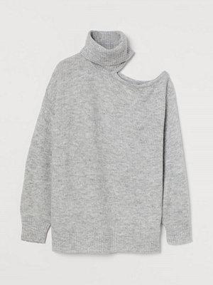 H&M One shoulder-polotröja grå