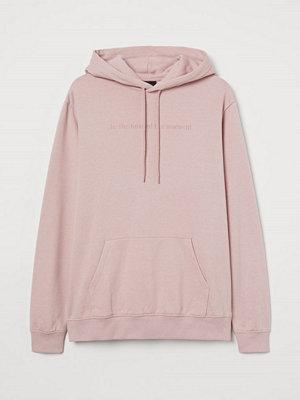 H&M Huvtröja med motiv rosa