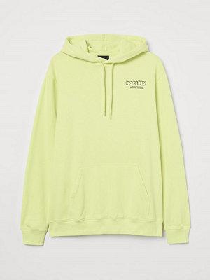 H&M Huvtröja med motiv gul