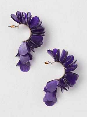 H&M Örhängen lila