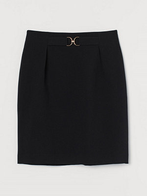 H&M Kjol med spänne svart