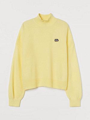 H&M Stickad polotröja gul