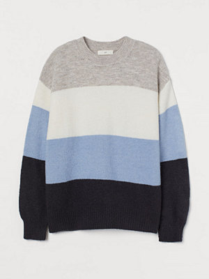 H&M Stickad tröja blå