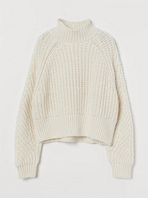 H&M Stickad tröja vit