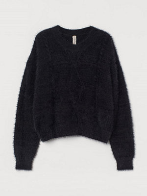 H&M Kabelstickad tröja svart