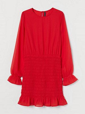 H&M Klänning med smock röd