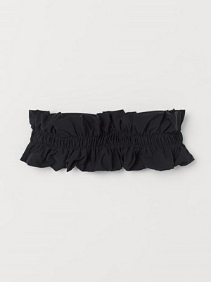 Bikini - H&M Vadderad bandeaubikini-bh svart