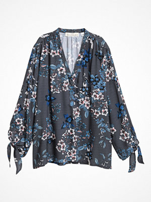 H&M V-ringad blus grå