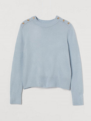 H&M Finstickad tröja blå
