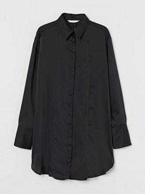 H&M Lång blus svart
