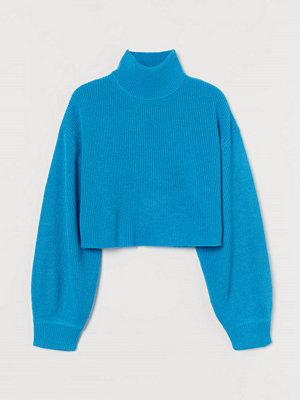 H&M Kort polotröja blå