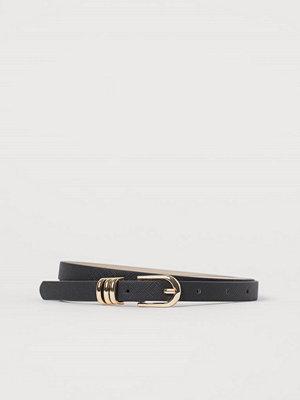 H&M Smalt skärp svart